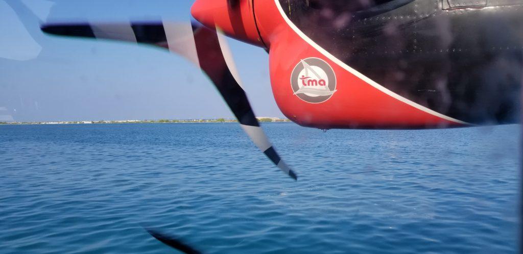 モルディブで乗った水上飛行機
