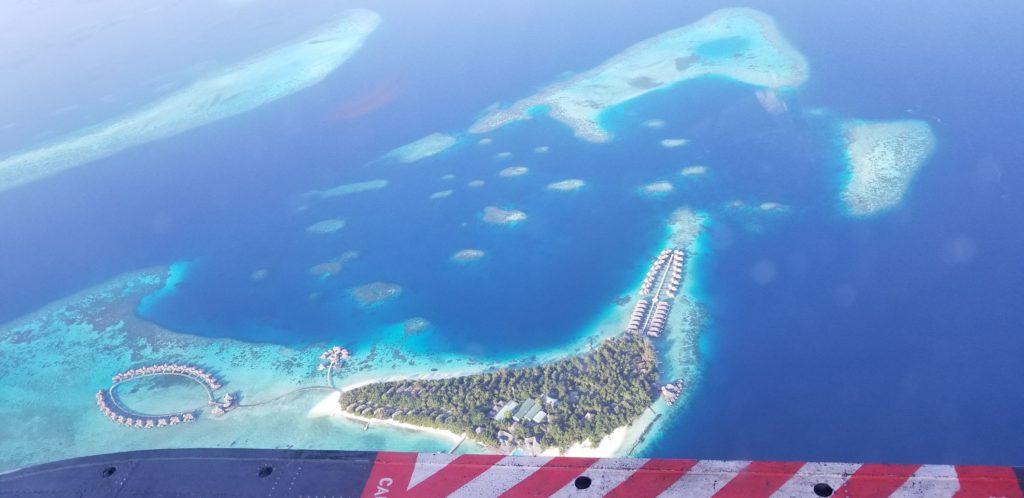 水上飛行機から見たモルディブの鑑賞②