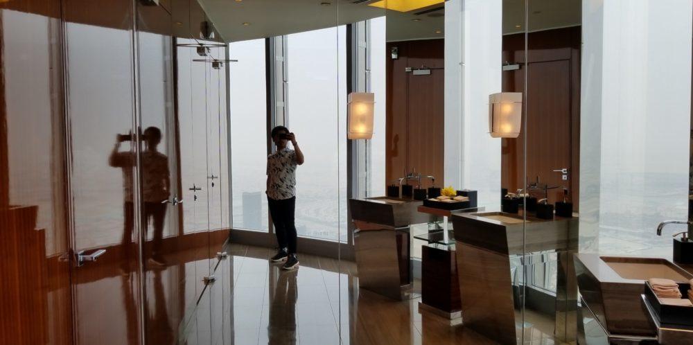 ブルジュ・ハリファ「アトモスフィア」のトイレの内装
