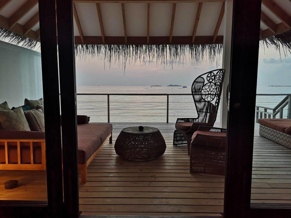 ヴィラから海を見た景色