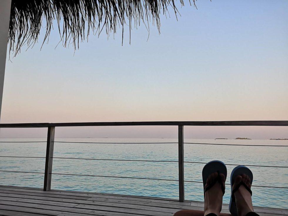 モルディブの水上ヴィラから眺めた景色