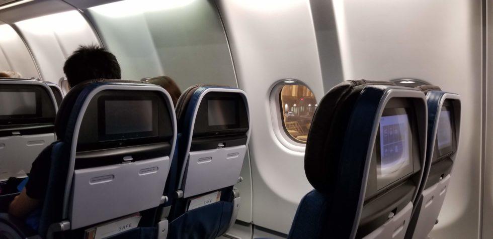 ハワイアン航空のエコノミークラスの座席