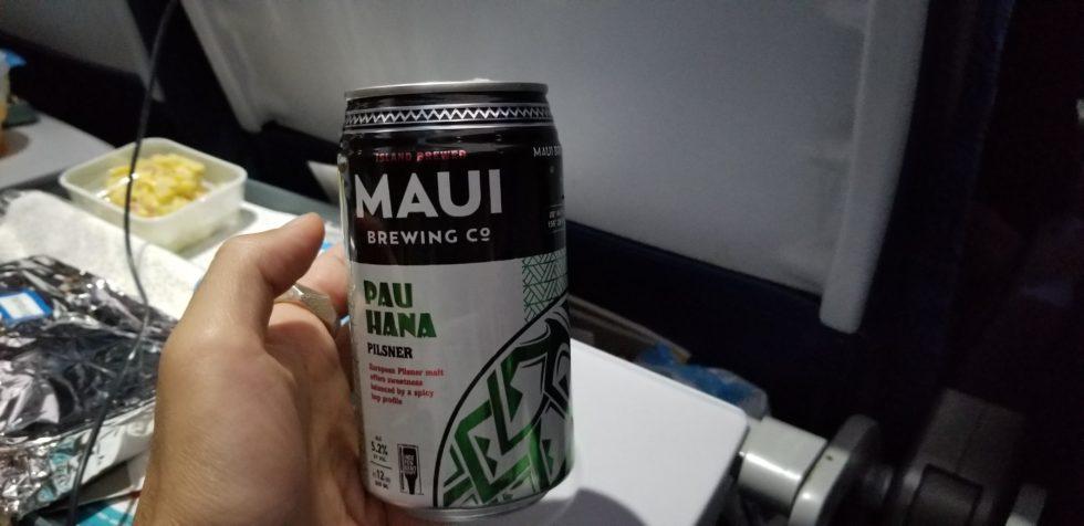 ハワイアン航空で飲んだ「マウイビール」