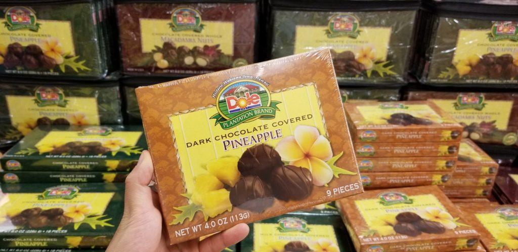ドールプランテーションのパイナップルのダークチョコレート包み