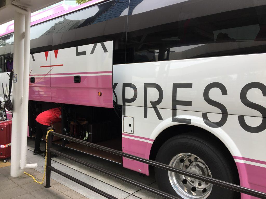 大崎駅西口のバスターミナルからウィラーに乗車