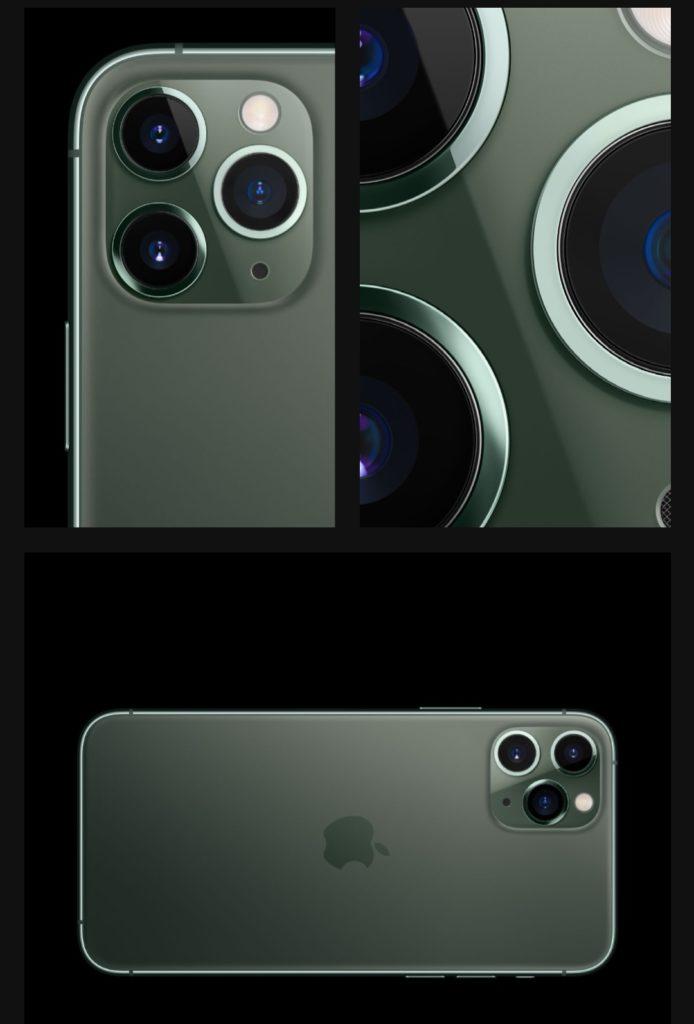 iPhone11 Pro(新色のミッドナイトグリーン)