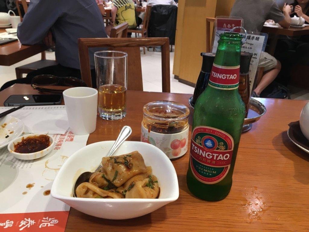 鼎泰豊の「えびワンタン醤油かけ」