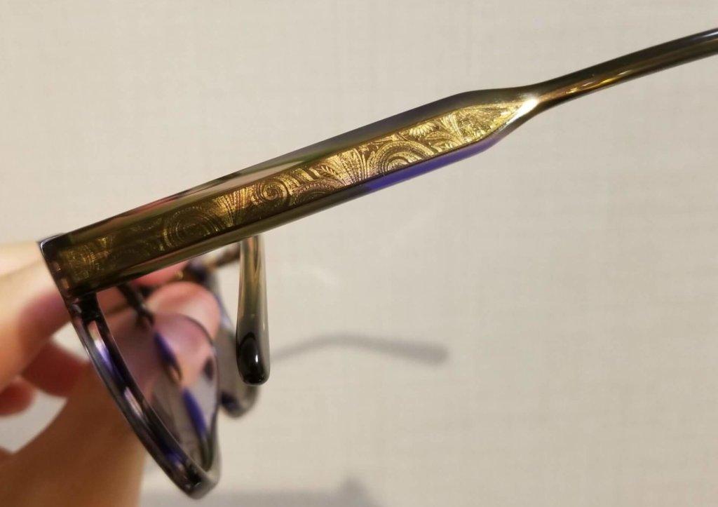 細部にこだわりがみえるADSRのサングラス