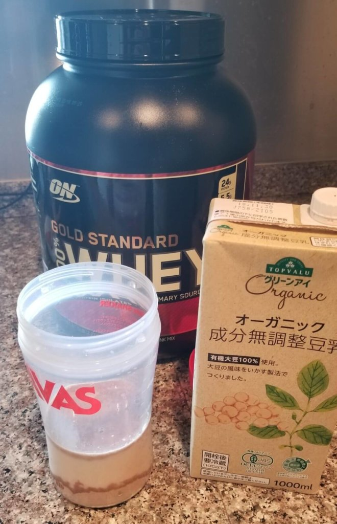 全米No.1プロテインの「ゴールドスタンダード」は投入と混ぜて飲むと美味しい