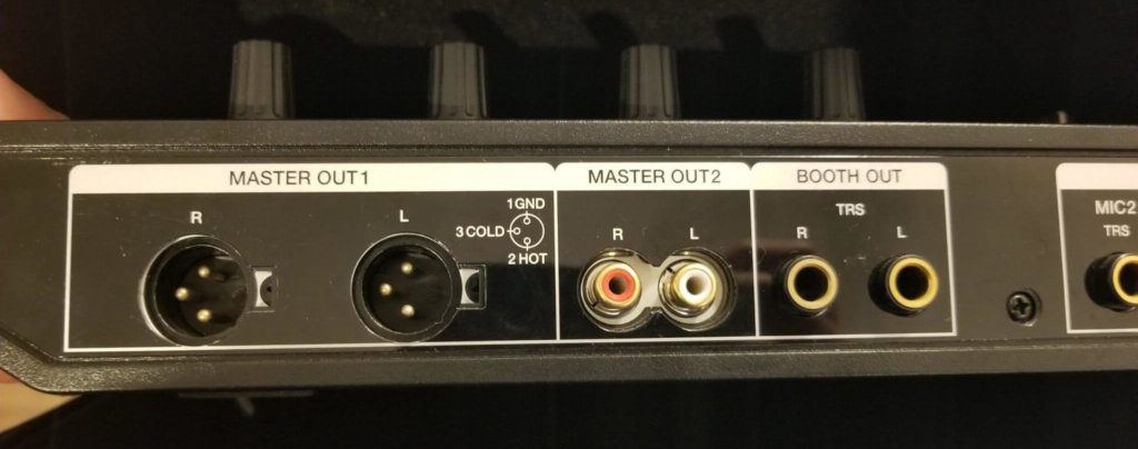 Pioneer DDJ SX-2のOUTPUT部分