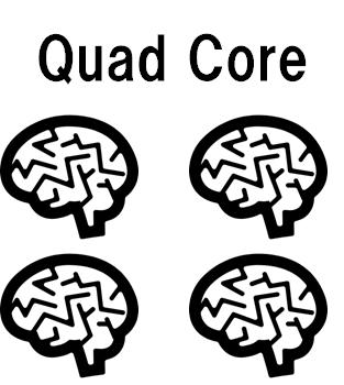 Quad Core(クアッドコア)はCPUである脳みそが4つあるもの