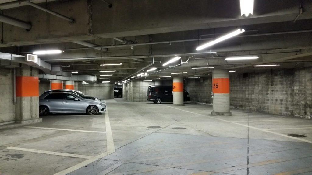 五反田TOCの駐車場風景