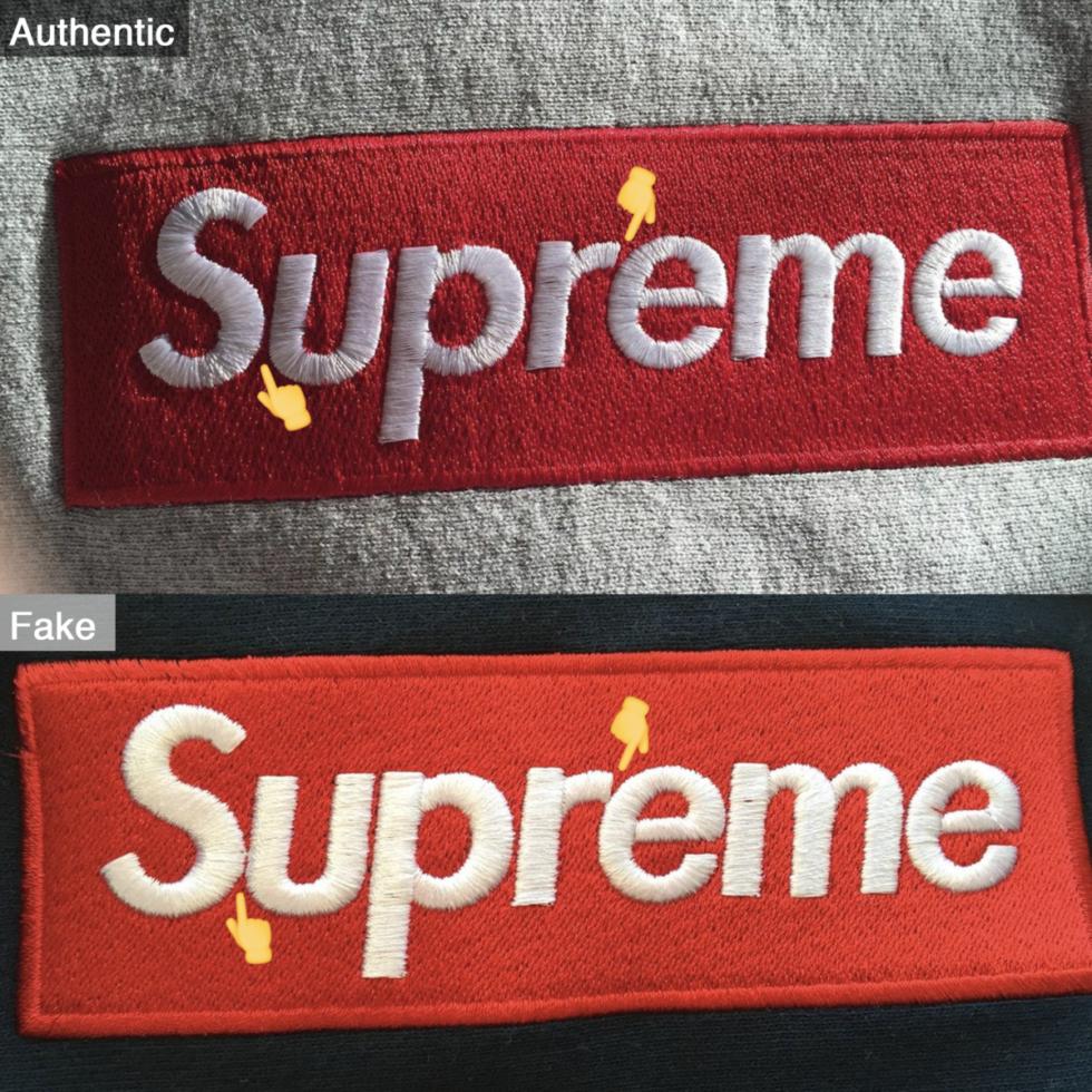 SupremeのFakeとRealの比較