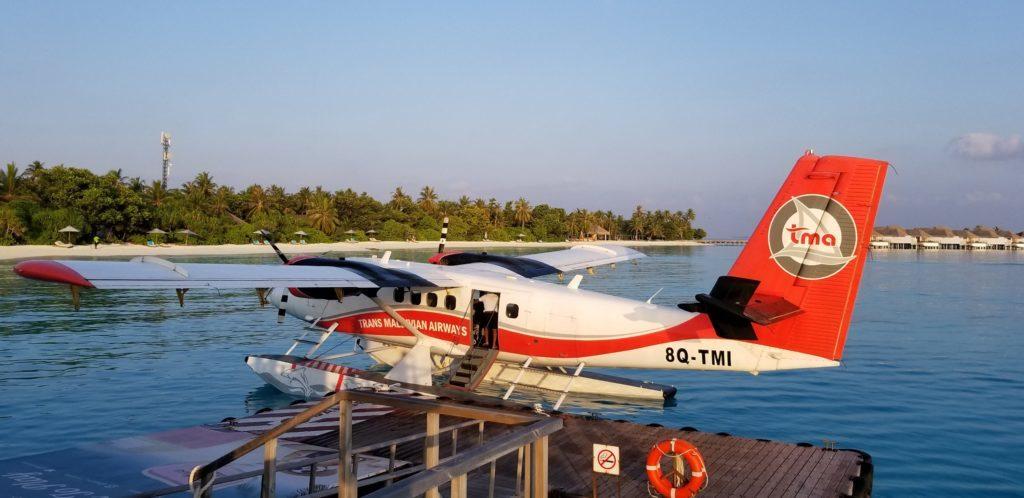 モルディブで実際に乗った水上飛行機
