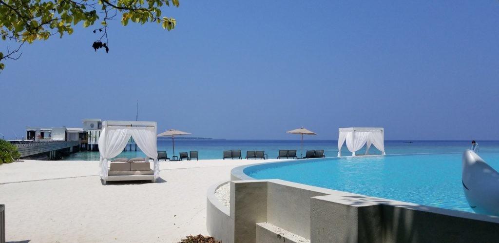 モルディブで宿泊したフィノールの姉妹リゾート地「アミラフシ」にて