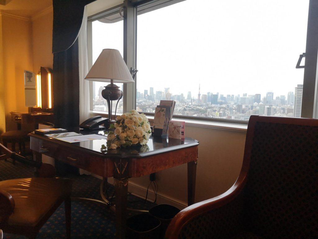 宿泊したウェスティンホテル東京にて