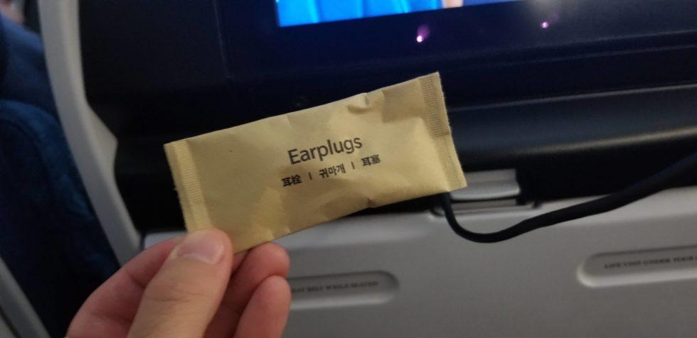 ハワイアン航空のアメニティ「耳栓」