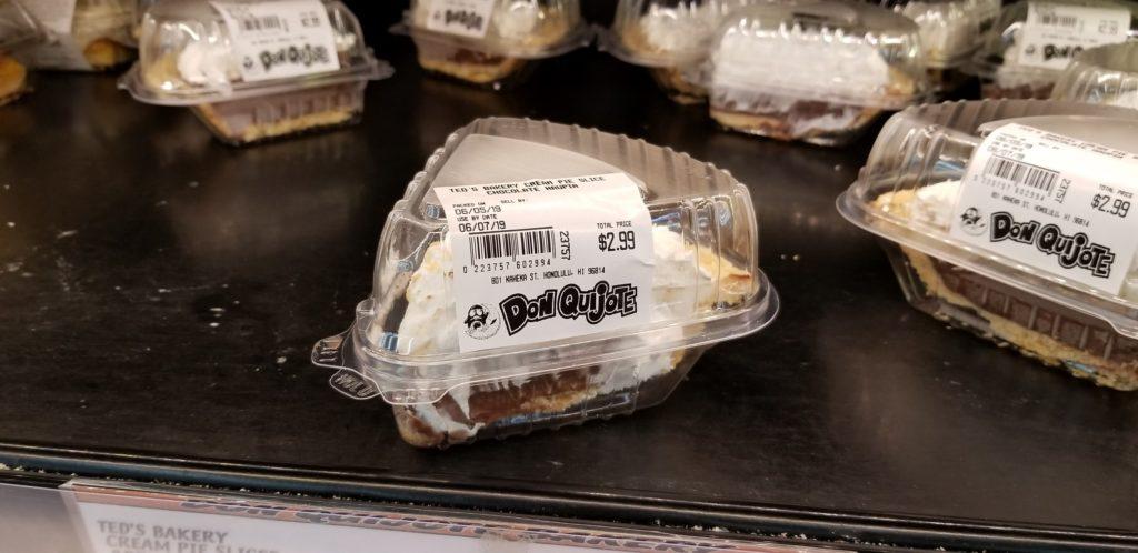 ハワイのドンキホーテで売っているテッズベーカリーのパイ