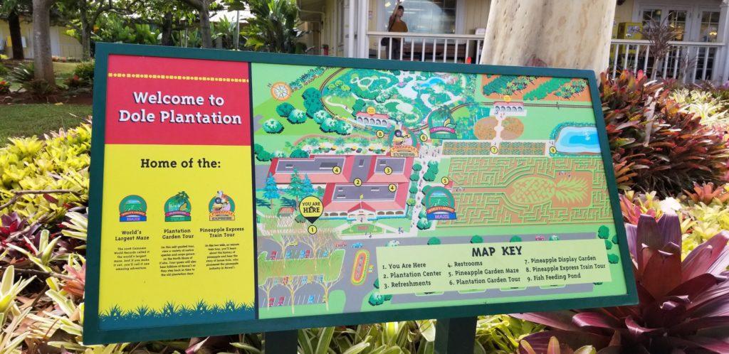 ドールプランテーションの園内マップ