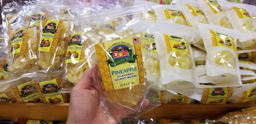 ドールプランテーションのパイナップル味のグミベアー