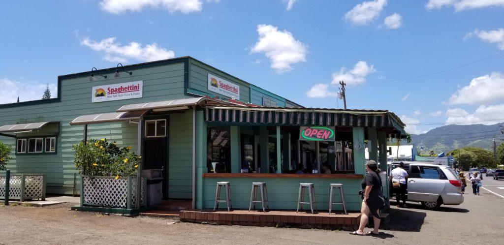 ハレイワでピッツアといえば「スパゲッティーニ」