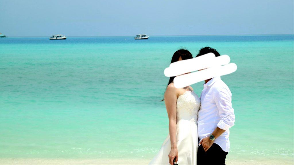 モルディブで撮影したウェディングフォト