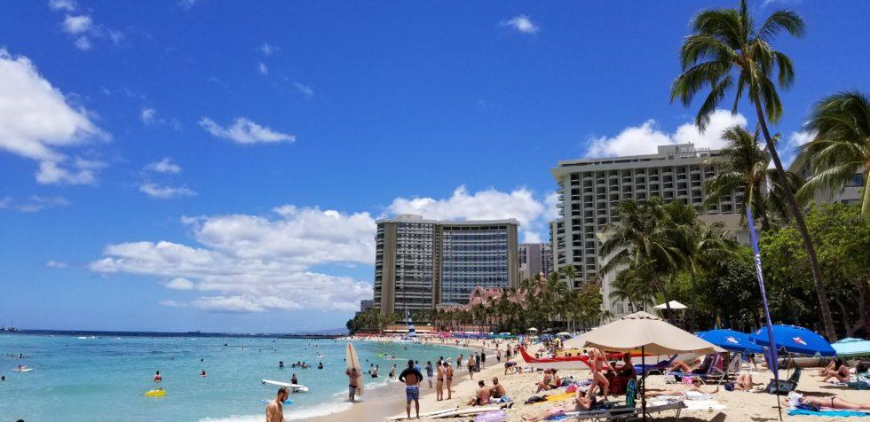 ハワイはオアフ島にあるワイキキビーチ