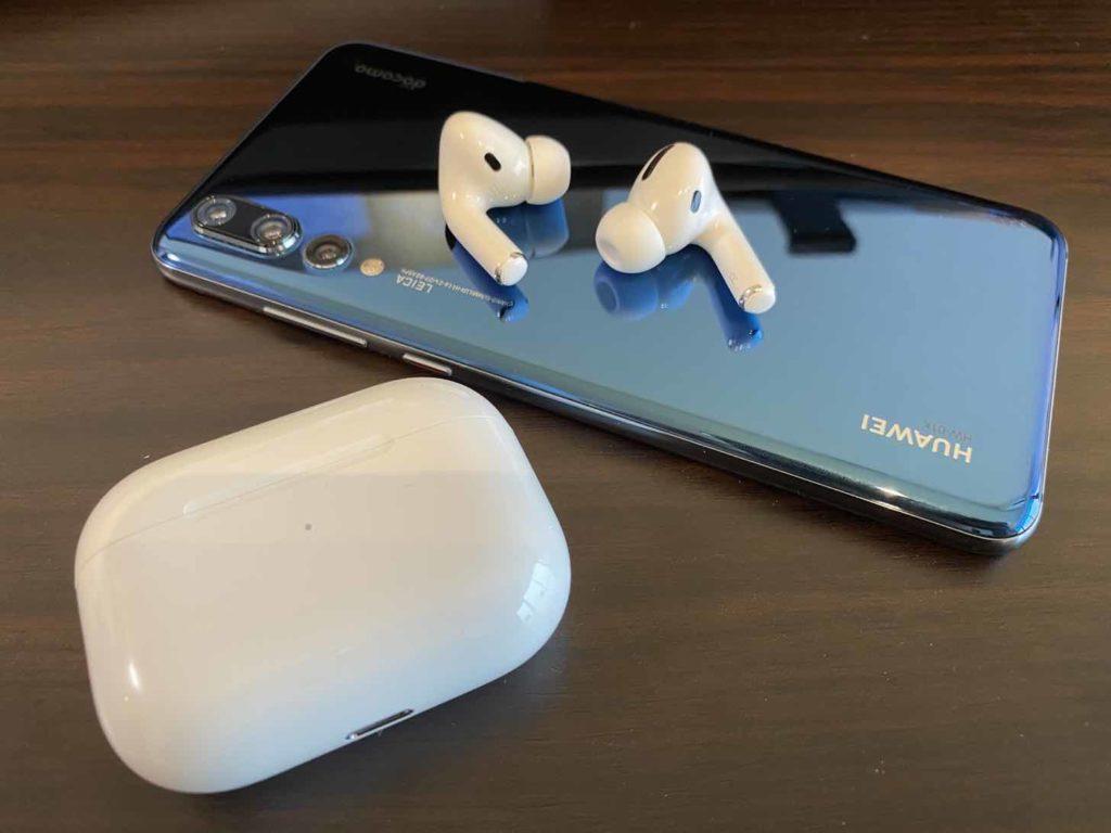 Huawei P20 ProとAirPods Pro