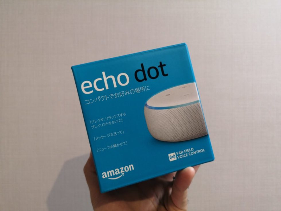 Amazon Echo dot外箱